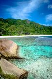 Anse Coco. In La Digue, Seychelles Stock Photo