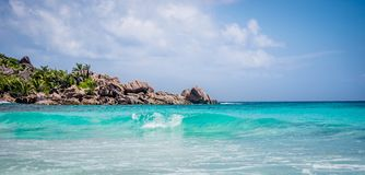 Anse Coco. In La Digue, Seychelles Stock Photos