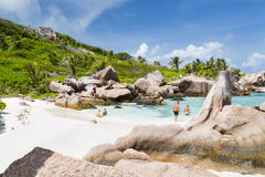 Anse Cocos, La Digue, Seychelles, editorial Stock Photo