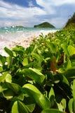Anse de Sables Beach - St Lucia Imagenes de archivo