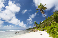 Anse Fourmis, Ла Digue, Сейшельские островы Стоковые Фото
