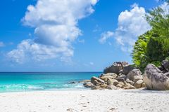Anse Georgette beach, Seychelles Stock Photos