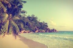 Anse georgette beach in seychelles praslin island Stock Photo