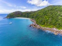 Anse Georgette na Praslin wyspie, Seychelles Zdjęcie Royalty Free