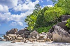 Anse Georgette strand, Seychellerna Royaltyfri Fotografi