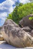Anse Georgette strand, Seychellerna Arkivfoto
