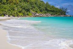 Anse Georgette strand, Seychellerna Arkivbilder