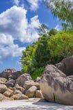 Anse Georgette strand, Seychellerna Royaltyfri Bild