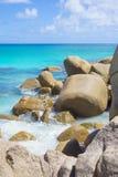 Anse Georgette strand, Seychellerna Royaltyfria Foton