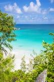 Anse Georgette strand, Seychellerna Royaltyfria Bilder
