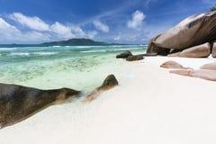 Anse Grosse Roche, Ла Digue, Сейшельские островы Стоковое Изображение RF