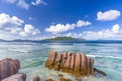 Anse Grosse Roche plaża, Seychelles Obrazy Stock