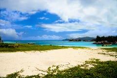 Anse La Reunion, La Digue. Beautiful Anse La Reunion, La Digue, Seychelles Islands Royalty Free Stock Image