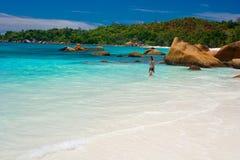 Anse Lanzio beach Royalty Free Stock Photography