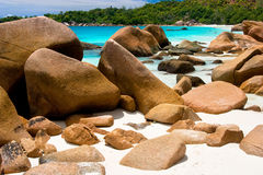 Anse Lanzio,Seychelles. This is on of the top 5 best beaches of the world Royalty Free Stock Photos