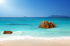 Anse Lazio beach on Praslin island Royalty Free Stock Image