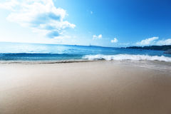 Anse Lazio beach at Praslin island Royalty Free Stock Image