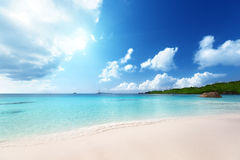 Anse Lazio beach at Praslin island Royalty Free Stock Photo
