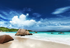 Anse Lazio beach Praslin island Royalty Free Stock Photography