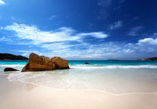 Anse Lazio beach Praslin island Royalty Free Stock Photos