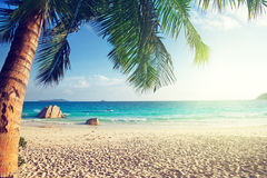 Anse Lazio beach, Praslin island Stock Photography