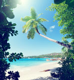 Anse Lazio beach on Praslin island Royalty Free Stock Photo
