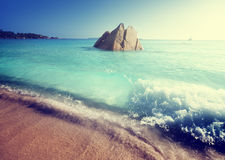 Anse Lazio beach on Praslin island Royalty Free Stock Images