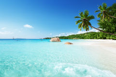 Anse Lazio beach at Praslin island Stock Photography