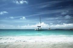 Anse Lazio beach at Praslin island Royalty Free Stock Image