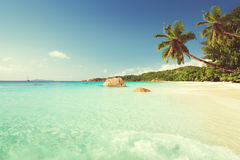 Anse Lazio beach at Praslin island, Seychelles Stock Photography