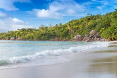 Anse Lazio beach in Praslin - Seychelles stock photos