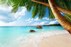 Anse Lazio beach on Seychelles Royalty Free Stock Images