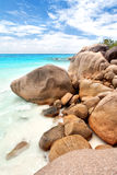 Anse Lazio beach stock photography