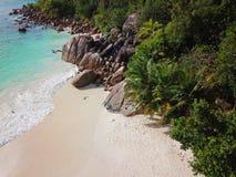 Anse Lazio på Seychellerna arkivfoton
