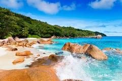 Anse Lazio, Praslin island. The Seychelles Royalty Free Stock Image