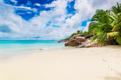 Anse Lazio, Praslin island. The Seychelles Royalty Free Stock Photography