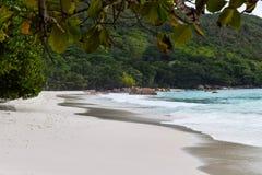 Anse Lazio Strand in Seychellen lizenzfreies stockbild