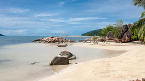 Anse Magde Beach in Praslin Seychelles Stock Image