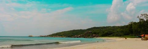 Anse magnífico en la isla de Digue del La en Seychelles imágenes de archivo libres de regalías