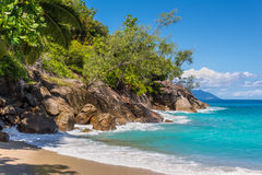 Anse Major beach, Mahe Island, Seychelles Stock Images
