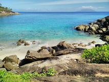 Anse Major beach in Seychelles stock photos