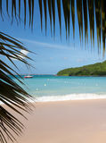 Glorious beach at Anse Marcel on St Martin Royalty Free Stock Photo