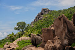 Anse Marron ,Tropical beach at Seychelles Royalty Free Stock Images