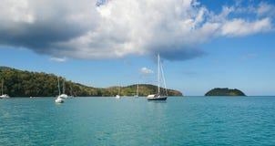 Anse Mitan - Ilet Ramier - Martinique. Tropical island of Caribbean stock photography