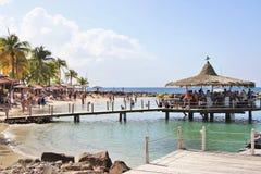 Anse Mitan, Martinica - 12/14/17 - playa tropical hermosa en Anse Mitan Fotos de archivo libres de regalías