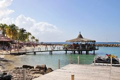 Anse Mitan, Martinica - 12/14/17 - praia tropical bonita em Anse Mitan Fotografia de Stock