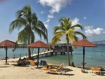 Anse Mitan, Martinica - 12/14/17 - praia tropical bonita em Anse Mitan Imagens de Stock Royalty Free
