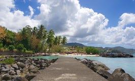 Anse Mitan - Martinique - île tropicale de mer des Caraïbes photos stock