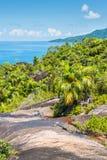 Anse natury Ważny ślad, Mahe wyspa, Seychelles, ocean indyjski, Zdjęcia Royalty Free