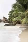 Anse Patates, Ла Digue, Сейшельские островы Стоковые Фото